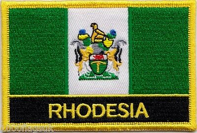 Rhodesia 1968 to 1979 Flag Embroidered Patch Badge - Sew or Iron on