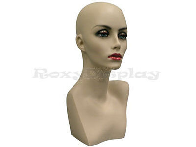 Female Mannequin Head Bust Wig Hat Jewelry Display Skin #MD-PH17