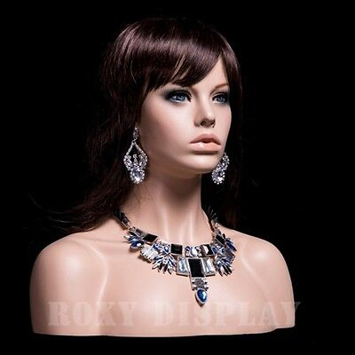 Hot Selling Female Fiberglass Mannequin Head Display #MZ-H1
