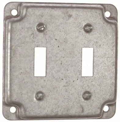 "T & B RS 5 4"" Steel Square Box Surface Cover, 2-Toggle Switches"