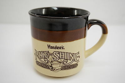 Vintage Hardee's Rise and Shine Homemade Biscuits 1989 Ceramic Coffee Mug