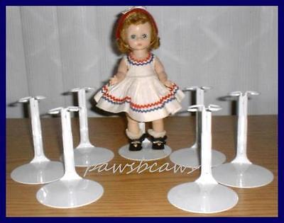 "6 Kaiser Doll Stands for 8"" Madame Alexander GINNY Riley U.S.SHIPS FREE"