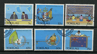 Tokelau 1988 SG#159-164 Political Development Used Set #A78722