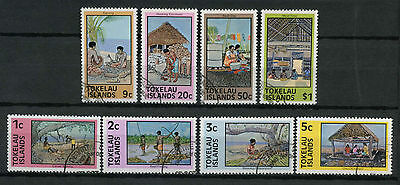 Tokelau 1976 SG#49-56 Local Life P14x13.5 Used Set #A78683