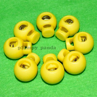 """Ball ( Choose Qty ) Cordlock ( hole:1/4"""") Yellow Round Cord Lock Rope Holder End"""