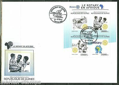 Guinea 2014 Rotary Int'l In Africa  Sheet First Day Cover