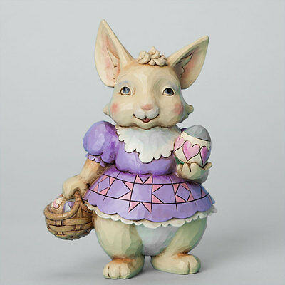 Jim Shore Pint Sized Bunny with Basket Figurine