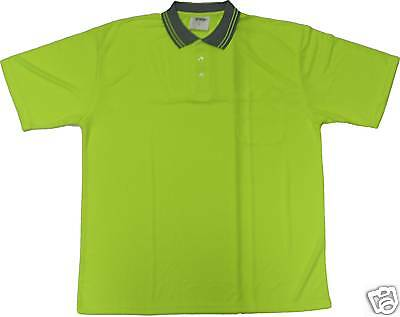 Hi Visibility Safety Polo Shirt Lime Yellow 28-4069 X-Large
