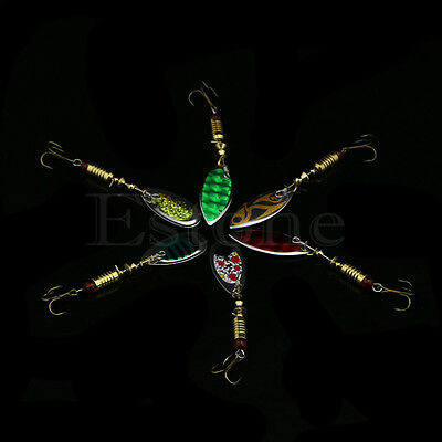 1pc New 6g Fishing Lure Dish Paillette Lures Treble Hook Spinner Bait