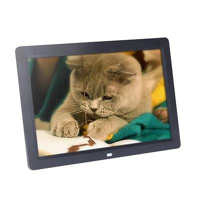 "12"" Inch Digital Albums Photo Frame Alarm MP3 MP4 Black + Remote Controller EU"