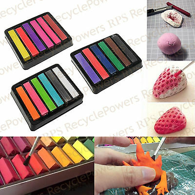 3 Color set soft pastels non-toxic square chalk Clay drawing art supplies LOT