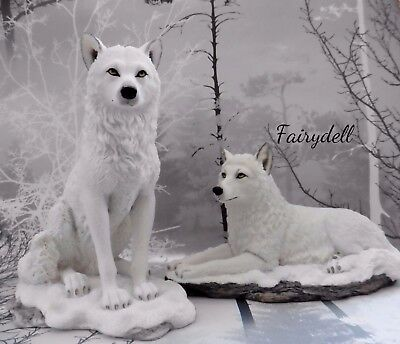 'white Shadow' Or  'ghost Wolf' Stunning White Wolf Figurine / Ornament - Wolves