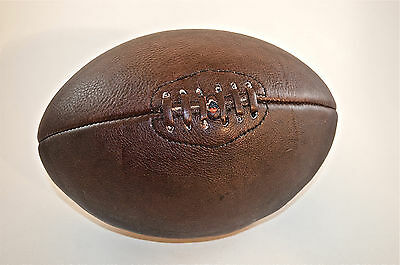 Fantastic Handmade Brown Leather Vintage Style Rugby Ball  Ind