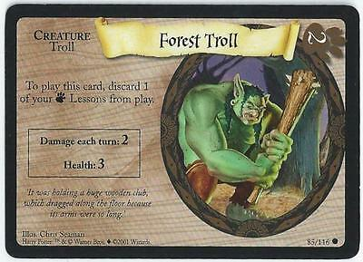 Harry Potter Trading Card Game - Card 85/116 - Forest Troll (Admv)