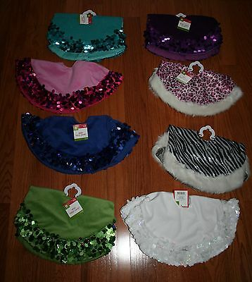 New Target Mini Tree Skirt ~Various Solid Colors or Animal Print