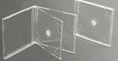 10 CLEAR DOUBLE JEWEL CD Cases 10.2mm (New)