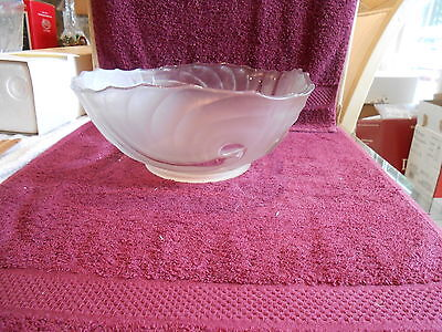 "Antique glass Tiffin Velva pattern bowl 9 1/2"" by 4 1/4"""