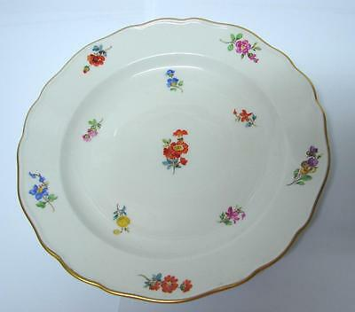 Antique Meissen Hand painted floral decorated Plate Dresden Flowers
