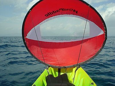 KAYAK SAIL Paddle  - Go Sailing in your Kayak or Canoe - Wind-PADDLE - Red
