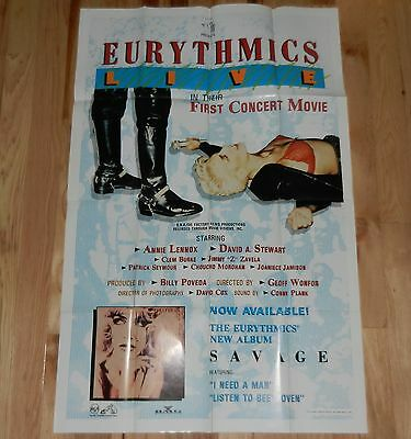 1988 Eurythmics promo Poster • Live Concert Movie