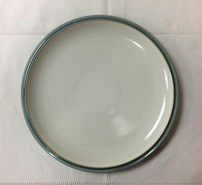 "Denby ""Blue Jetty White"" Dessert/Salad Plate 9"" Stoneware New Made In England"