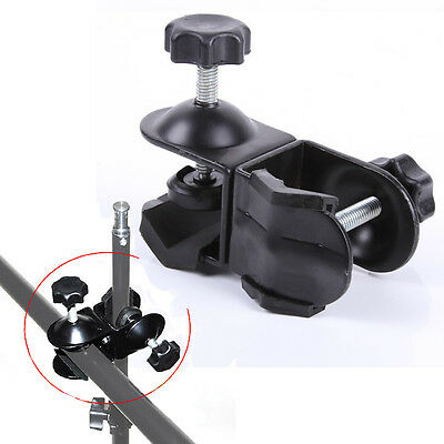 NEW Photo Dual Double U Clip C Clamp for Studio Photography Boom Arm light Stand