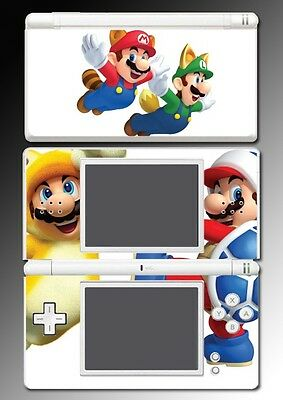 New Super Mario Bros 3D Land Powerup Suit Video Game Skin Cover Nintendo DS Lite