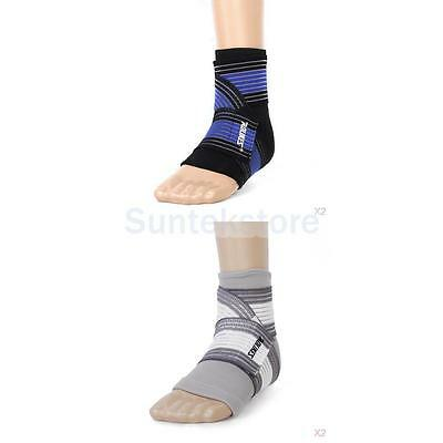 4 xFootful Ankle Foot Elastic Compression Wrap Support Sleeve+ Bandage Brace