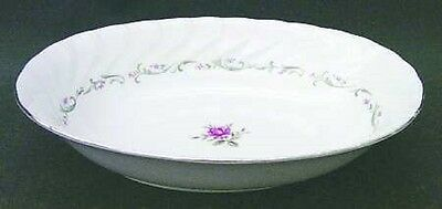 Fine China of Japan #109 ROYAL SWIRL Pink Rose Oval Vegetable Bowl