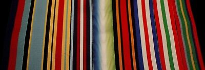 Replacement Ribbon Set for all 9 WW2 Stars (6 inchs of each)