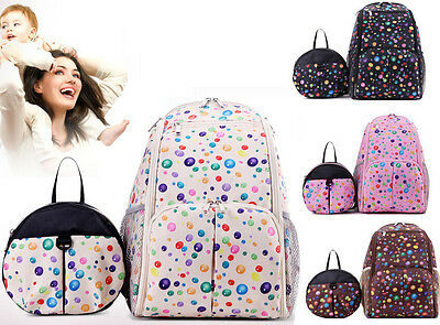 2 Bags/Set New Mummy bag Backpack Baby Diaper Nappy Changing Bag for baby mommy