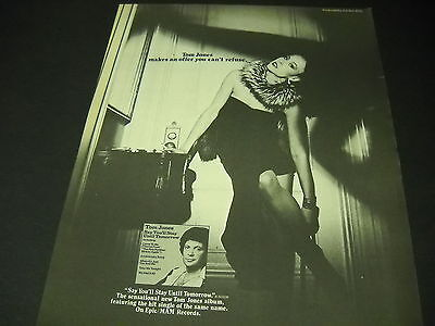 TOM JONES makes an offer you can't refuse 1977 PROMO POSTER AD Say You'll Stay..