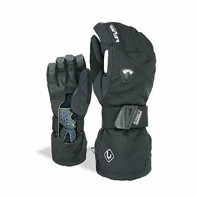 LEVEL FLY Herren Snowboard Handschuhe Gloves wasserdicht BIOMEX Protektor 1031UG