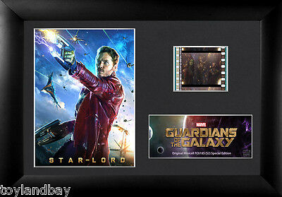 Film Cell Genuine 35mm Framed & Matted Guardians of the Galaxy StarLord USFC6185