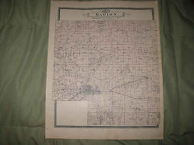 Antique 1895 Marion Maine Township Central City Linn County Iowa Handcolored Map