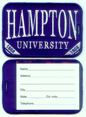 HAMPTON UNIVERSITY Luggage ID Tags Embroidered Large (Set of 2)