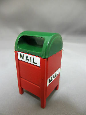 Christmas Village Accessory Mail Box Metal Mailbox Holiday Town Accessories New