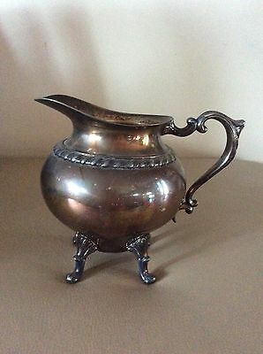 Vintage Estate Collectable Signed Glastonbury Pitcher Silver Plated over Copper