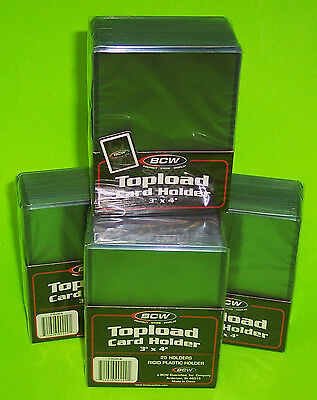 100 Topload Card Holders For Sports/ Trading Cards,12M 3 X 4 Rigid Plastic, Bcw