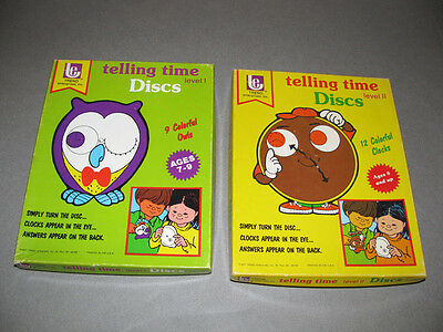 2 Complete Vintage Trend Box Sets Telling Time Discs Level I & II learning