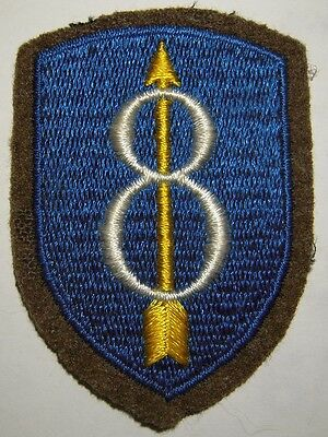WW2 8th Infantry Division Wool Patch - US Army