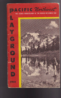 Pacific Northwest Playground 1951 Booklet Scenic Wonderland of the World