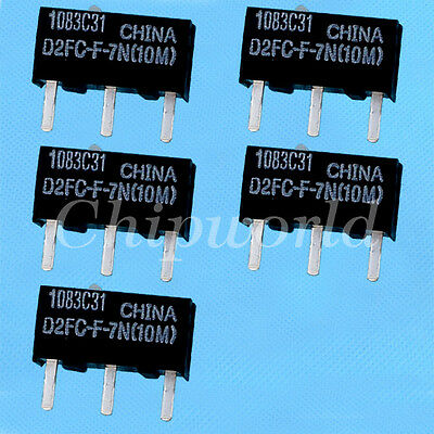 5pcs OMRON Micro Switch D2FC-F-7N(10M)for Mouse