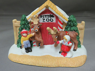 Reindeer Petting Zoo Christmas Village Accessories Holiday Town Porcelain New