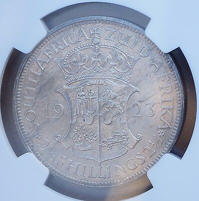 1923 South Africa 2.5 Shillings Silver Halfcrown KM# 19.1  Proof NGC PF63