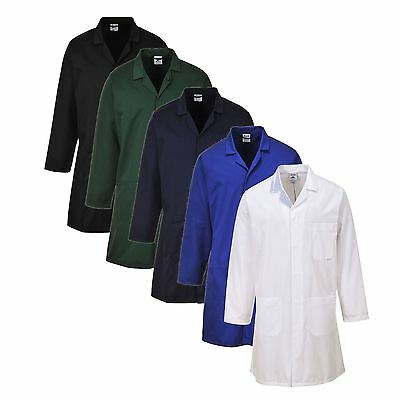 Portwest Standard Coat Multi-Pockets Auctioneer Chef Garage Work XXS-5XL 2852