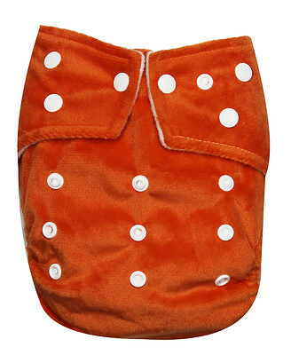 See Diapers One Size Minky Baby Cloth Diaper W/ 2 Inserts Microfleece Inner New