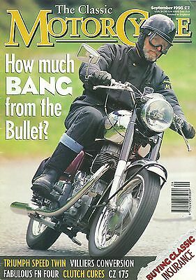 CLASSIC M/CYCLE magazine 9/95 feat. 1961 Bullet, 1925 FN outfit, 1936 CZ, medals