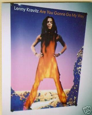 LENNY KRAVITZ Large Bold 1993 PROMO POSTER perfect cond