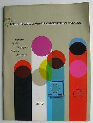 "1957 Lithographic Awards Competition Catalog (7th Annual) high-quality 9x12"" pub"